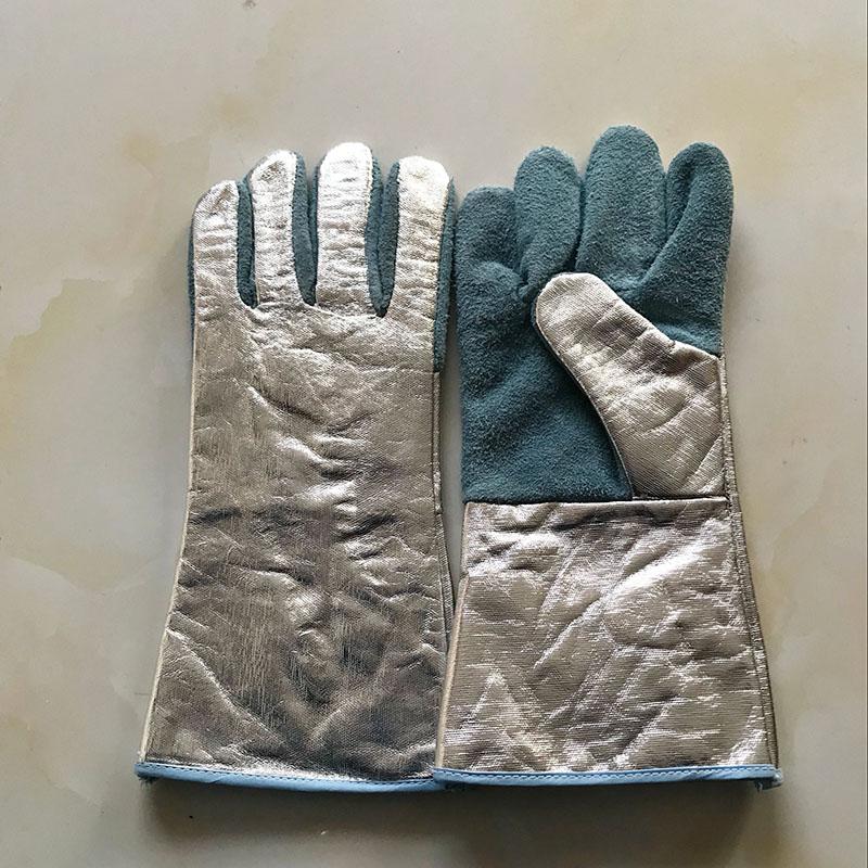 牛皮大五指手套